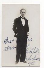 Arthur Bude Actor 1928 RP Photo Card Autographed 760b