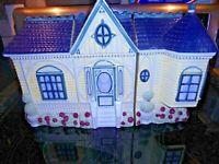 Vintage1999 Cracker Barrel Ceramic Canister Set-Victorian 3pc Houses Decor   Box