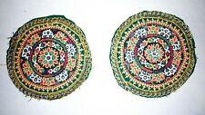 Indien Kutchi Tribal Rabari Handmade Couture Miroir Coussin Avants Patchs