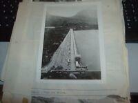 """foto originale anni '30 formato Cm. 18 x 13 """"DIGA SUL BELICE"""""""