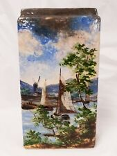 Antique ODELL & BOOTH BROTHERS American Art Pottery Barbotine Glaze Vase