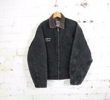 "Carhartt 90s Mens Faded Black Detroit Jacket Blanket Lined Chore Workwear 48"""