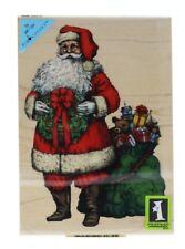 Inkadinkado Holiday Santa Claus with Toy Sack Christmas Wooden Rubber Stamp