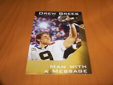 NEW ORLEANS SAINTS DREW BREES 2012 GOOD NEWS TRACTS MAN WITH A MESSAGE PAMPHLET
