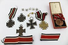 Konvolut Orden 1 2 WK WW Kreuz EK KO German BADGE MEDAL cross Frontkämpfer Rangs