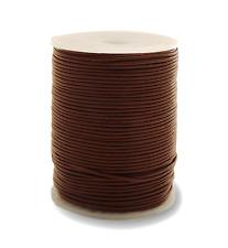 100m Lederband (0,33 €/1m) Farbe Braun 1,5 mm stark 100 Meter auf Rolle