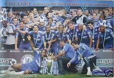 """CHELSEA FC """"2009-10 PREMIER LEAGUE CELEBRATING"""" POSTER"""