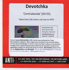 (EB71) Devotchka, Contrabanda - 2011 DJ CD