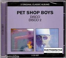 2 CD NEU OVP Pet Shop Boys Disco 1 + 2 Petshopboys ELECTROSPECTIVE Stickered
