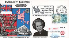 """PE28-T3 FDC Parlement européen """"Visite Margaret THATCHER, Royaume-Uni"""" 12-1981"""