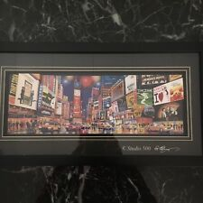 Studio 500 3 D Picture , Times Squares Broadway Shows, Glass.Black Frame