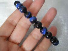Blue Tigers Eye bracelet, 117 carats, 7.75 inch, 0.95 grams of 925 Sterling Silv
