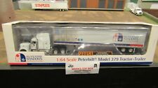 DCP#31003 ALL WEATHER WINDOWS PETE 379 SEMI CAB TRUCK DRY VAN TRAILER 1:64/FC