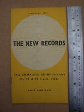 Ephemera The New Records Monthly Guide Records/vinyls Jan 1958 22 pages