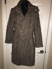 Women's Calvin Klein Brown Heavy Winter Dress Coat Size 10