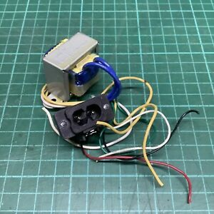 Chassis Mains Transformer for 6V DC Radio etc & IEC C8 Socket - From Roberts