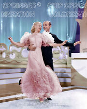 GINGER ROGERS & FRED ASTAIRE in Swing Time 2   8X10 COLOR PHOTO BY CHIP SPRINGER