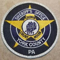 PA York County Pennsylvania Sheriff Patch
