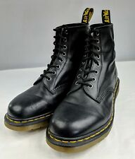 Dr. Martens Black Leather Air Cushioned Insole Lace Up Boots Mens Size 9