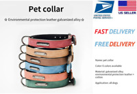 S/M/L Collar Leather for Dogs Cats Pet Puppy Adjustable Cats Waterproof Dog Neck