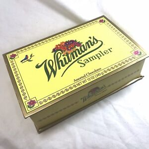 "Whitman Candy 12 Oz Sampler Cross Stitch Box Only 9"" x 5-3/4"" x 2-3/4"""