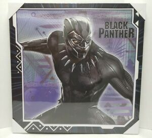"""Marvel BLACK PANTHER Open Road Brands 24""""x24"""" Canvas Picture Mancave Playroom..."""