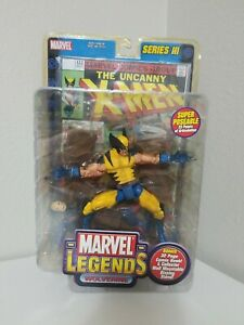 NEW 2002 MARVEL LEGENDS SERIES 3 WOLVERINE ACTION FIGURE W STAND X-MEN #133