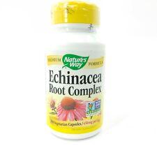 Nature's Way Echinacea Root Complex 100 Capsules 450mg Per Exp 6/23