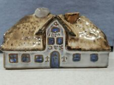Small Redware House Cottage With Cork Beautiful Unique Glaze 2 x 3.5""