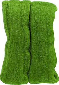 Clover Natural Wool Roving - Moss Green