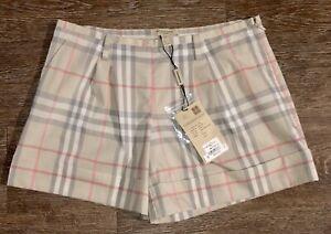Burberry Authentic Women Nova Check Shorts Size 2 NWT Originally 250$$