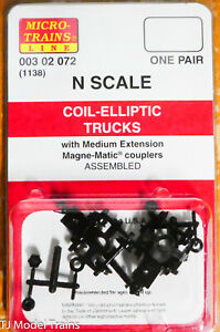Micro-Trains Line #00302072 (1138) Coil-Elliptic Trucks (One Pair)