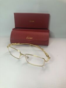 Gold Frame Cartier Glasses