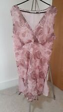 Ladies New York City Design co. PINK  Paisley Pattern silk tunictop Size XL 16
