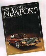 1979 CHRYSLER Newport Brochure/catalogo con colore carta: 318