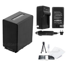NP-FV100 Battery + Charger + BONUS for Sony HDR-CX330 CX900 PJ810 FDR-AX100