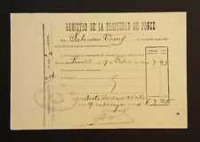 ANTIQUE DOCUMENT / REGISTRO DE LA PROPIEDAD / S. VIVES / PONCE PUERTO RICO 1904