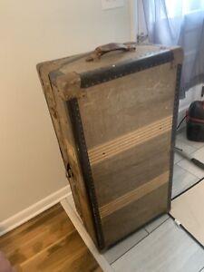 Vintage Steamer Wardrobe Trunk A.S. PROV RI USA