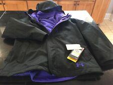 Girls Youths Under Armour Coldgear Infrared Storm jacket Ymd Medium Black Nwt