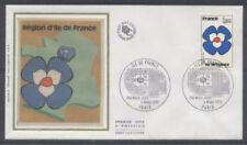 FRANCE FDC - 1991 1 ILE DE FRANCE - 4 Mars 1978 - LUXE sur soie