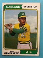 1974 Topps Baseball Card # 155 Bert Campaneris Oakland Athletics