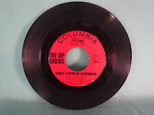 Rip Chords, Hey Little Cobra / The Queen, Columbia Records 4-42921, 1963, Rock