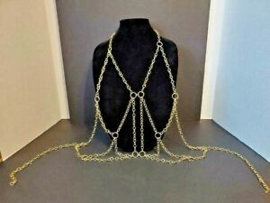 Gold Metal Chain Vest One Size Fits All