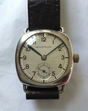 Vintage HENDERSONS Sterling Silver Cushion Cased Watch Working