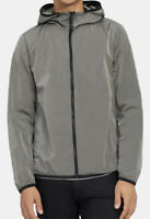 Theory Men's Silver Monte Track Jacket in Nylon Sz L MSRP $395