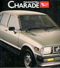 Daihatsu Charade 1981-83 UK Market Foldout Sales Brochure Base XG XTE