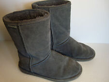 Bearpaw Boots Emma Short Size 7 Charcoal Gray