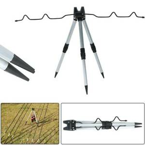 Portable Folding Fishing Rods Tripod Stand Rest Tackle for Sea Beach Travel UK