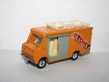 Vintage Tomy Tomica No.49 Isuzu Elf Hi-Roof Delivery Truck Van Orange 1:81
