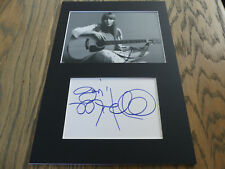 JONI MITCHELL signed 8x12 inch matted Indexcard InPerson in Berlin  SCARCE !!